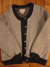 VTG LL BEAN NORWEGIAN FISHERMEN Wool Blend WOMENS XL CARDIGAN Sweater EUC