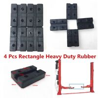 Heavy Duty Rubber Arm Pad 4PCS rectangle For Auto Truck Hoist Lift 115*80*25mm