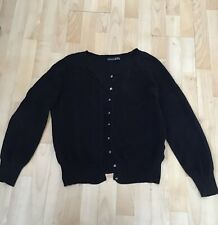 Ladies Cardigan Size 16 /44 Black Cotton Handy For Summer