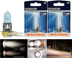 Sylvania SilverStar H3 55W Two Bulbs DRL Daytime Light Cornering Replacement EO