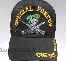 SPECIAL FORCES VETERAN Cap / Hat One Shot-One Kill Military New*FREE SHIPPING*