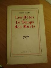 Les Bêtes, suivi de Le Temps des Morts  - Pierre Gascar  1953