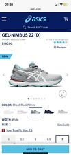 ASICS GEL-Nimbus 22 Women's Running Shoes Sheet Rock/White Size US 7 Wide(D)