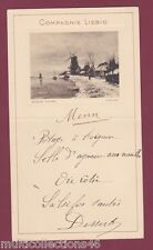 CHROMO - 120317 - Menu LIEBIG Paysage d'hiver Louis APOL - Moulin à vent