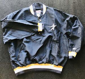 VTG Houston Astros Starter Jacket Diamond Collection XL Navy Blue Gold 1/2 Zip