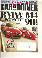 Car & Driver Aug 2014 - Porsche 911 - BMW M4 - Mercedes Benz S63 AMG - Speed