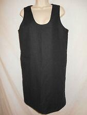 Wool Jumper Dress MEDIUM 10-12 Harve Benard Womens Lined Charcoal Black 6R5