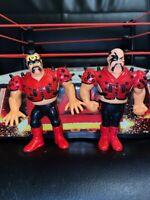 WWF HASBRO LEGION OF DOOM LOD ROAD WARRIORS WWE WRESTLING FIGURES ANIMAL HAWK