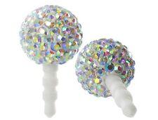 Crystal Rhinestone Dust Plug for 3.5mm Audio Port - Iridescent Disco Ball