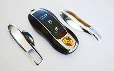 CHROME PORSCHE Remote Key Cover Case Skin Shell Cap Fob Protection Hull Trim 911