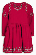 ••• ВNWT NEXT Girls T-Shirt Top • Red Embroidered Tunic • 100% cotton • 3-6m