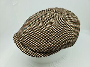 BORSALINO DORIA GOLD PLAID NEWSBOY CAP ( IVY FLAT GOLF )