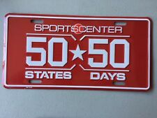 ESPN 50-50 Sports center License Plate NEW!!! FREE SHIPPING!!!!!!!!!!!