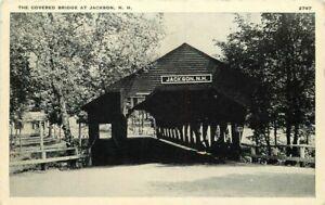 Covered Bridge Jackson New Hampshire Santway #2767 1920s Postcard 21-1852