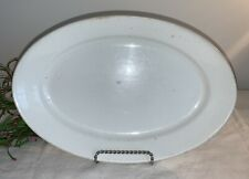 1800's ANTIQUE THOMAS ELSMORE & SONS WHITE IRONSTONE OVAL SERVING PLATE DISH