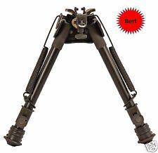 "Harris Style Hunting Rifle Bipod EZ Pivot + Quickest Swivel Stud Mount 6"" to 9"""