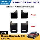 For Nissan Hardbody D21 Pickup 86-97 Mud Flaps Splash Mudguard Rubber Front Rear