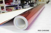 Red Chrome Vinyl 5ft x 27ft Bubble-Free Wrap Roll for Car Bike Boat Trailer