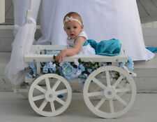 Flower Girl Pumpkin Wagon- Medium size in Gloss white - Child's Wedding Wagon