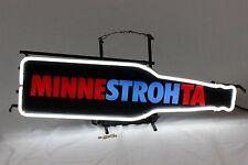 Vintage 1991 Minnestrohta Stroh's Beer Neon MN Minnesota Minn Bar Sign Light
