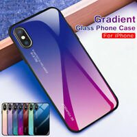 Gradient Shockproof Hybrid Tempered Glass Bumper Case Cover For iPhone X Xs Max