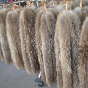 Real Fox Fur Collar Natural Fur Band Trimming Scarf Accessories 60/70/75cm