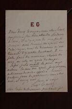 ✒ L.A.S. Eugène Grangé à Aurélien SCHOLL - lettre d'excuses