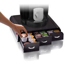 6 Row Coffee Pod Storage Drawer 36 K-Cup Brewer Pot Shelf Single Serve Cupboard
