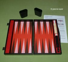 Backgammon in schwarzem Holz-Koffer 34 x 22 x 6 cm Top!