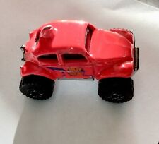 🏁 Hot Wheels Vintage 1983 Hot Pink Micro Volkswagen Beetle Chrome Racers 🏁