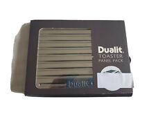 Dualit Architect Toaster Panel Pack Metallic Silver/Steel Finish