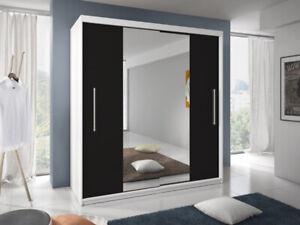 Modern design Wardrobe TURIN 6 ft 8 inch mirrored sliding doors Perfect interior