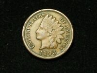 NEW INVENTORY!! XF 1893 INDIAN HEAD CENT PENNY w/ DIAMONDS & FULL LIBERTY #164s