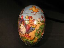 Vintage Germany Paper Mache Easter Egg Candy Container