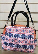 Elephant  Design Shoulder BagShopping bag. Orange And Blue colour. Free Postage