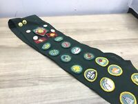 Vintage Girl Scout Sash Patches  Badges Pins