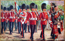 1910 Artist-Signed Tuck Military Postcard: British Army-Scots/Kings Guards