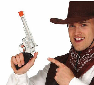 Toy Gun Plastic Handgun Cowboy Sheriff Fancy Dress Pistol Halloween 32cm 18893