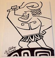 ERIC GOLDBERG - WALT DISNEY ANIMATOR SIGNED ORIGINAL DRAWING ARTWORK SKETCH COA