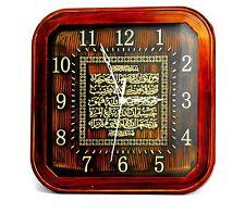 Islamic Muslim brown square plastic wall clock/ Home decorative # 1469