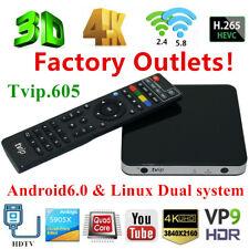 TVIP.605 4K 3D TV Box HDMI Linux&Android Quad Core Dual WiFi HD Stalker Streamer