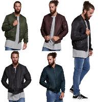 Mens Jacket by Brave Soul Bomber Coat Lightweight MA1 Zip-