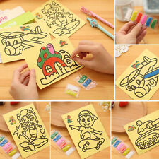 5PCS New Kids DIY Colorful Sand Painting Art Creative Drawing Toys for Children