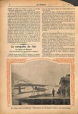 Rallye Aérien Monaco Hydravion Lieutenant Gabriel Voisin WWI 1914 ILLUSTRATION