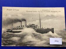 Postcard Shipping SS Otranto Italy Taranto Postmark 1923