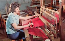 Branson Missouri~College School Of The Ozarks~Student Weaver~Loom~1950s PC