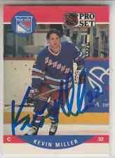 Autographed 90/91 Pro Set Kevin Miller - Rangers