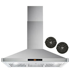 36 In. Ductless Wall Mount Range Hood w/ Touch Controls, Filter Kit (Open Box)