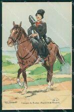 Military Russia Russian Soldier Horse Robiquet Kouban Cosaque postcard XF3623