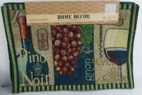 Home Decor 4 Piece Tapestry Placemats Set Wine Grapes